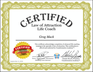 Law of Attraction Life Coach Certification